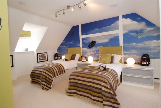 Typical second floor bedroom