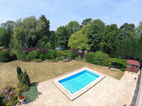 Aerial garden view t
