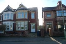 semi detached house in Llantarnam Road...