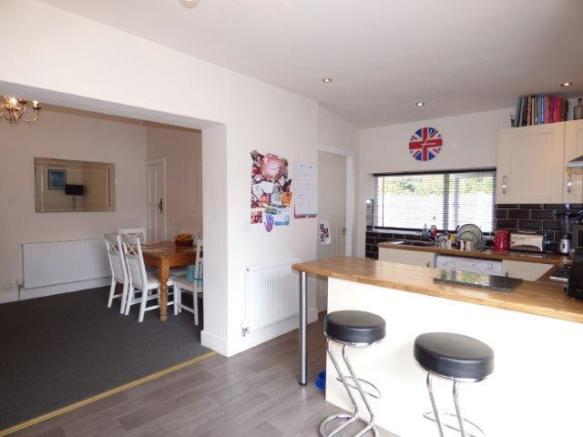 Extended modern kitchen