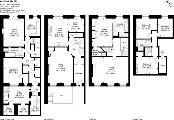 5 bedroom terraced house for sale in 10 ann street for Terraced house plans uk