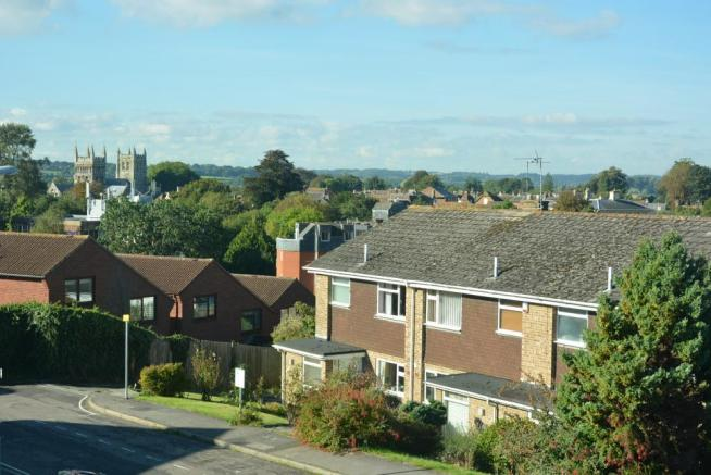 View towards Wimborne Minster