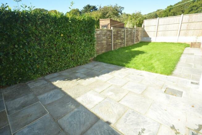 Patio & rear garden