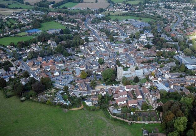 Aerial view of Wimborne
