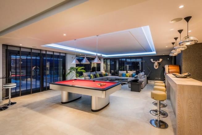 Evening games room