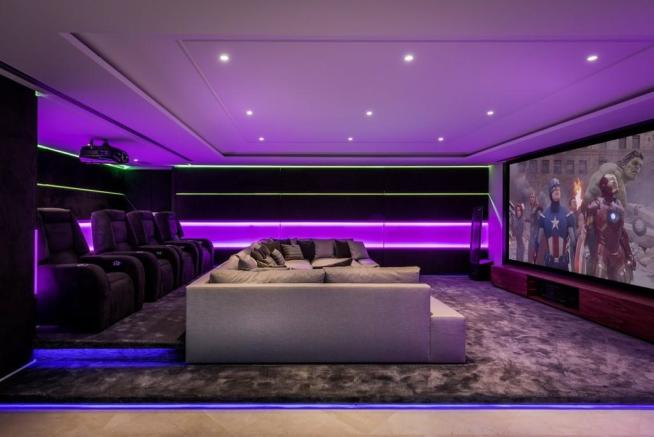 Evening home cinema