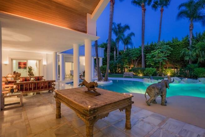 Evening terrace outl