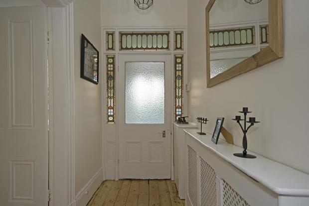 hallway looking towards front door