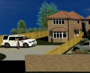 Detached property in Plot 1, Meads Road...