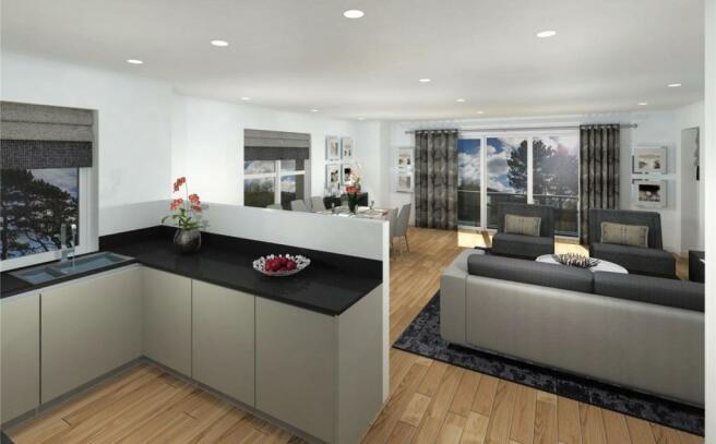 Apt 6 Living/Kitchen