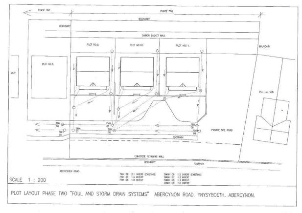 Drainage system plans