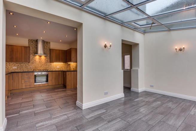 View into kitchen...
