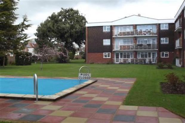 Communal grounds with pool