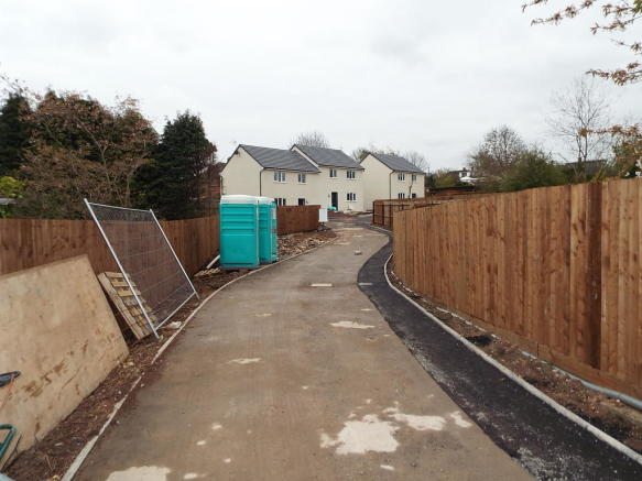 Private drive to new development of 3 houses.