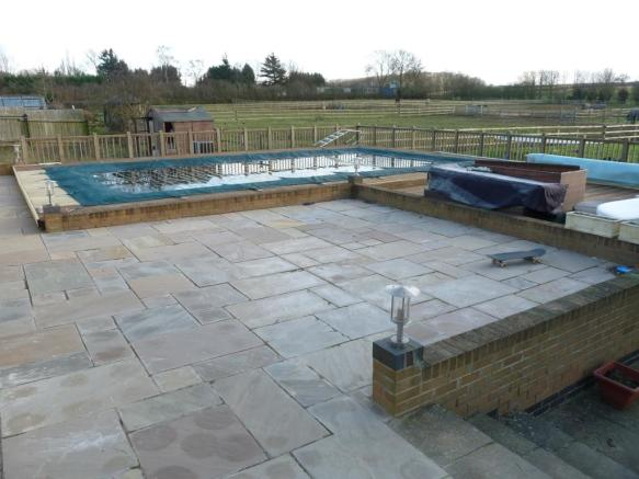 Swimming pool and decking