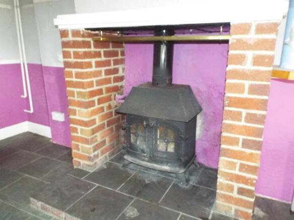 Log burner In Lounge
