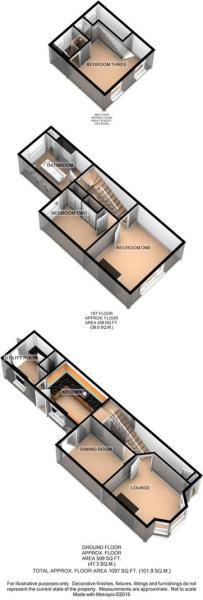 3D Floor Plan - 5 Sh