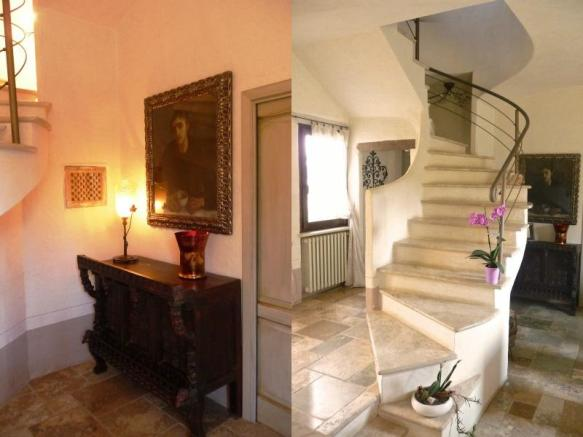Stairs and alcove