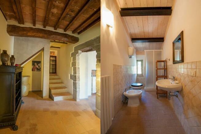 Stairs & bath