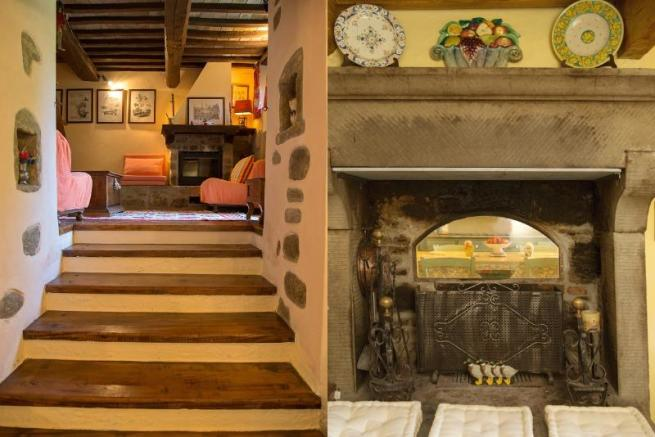 Stairs&fireplace