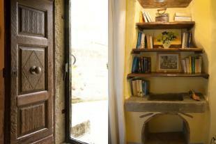 window and bookshelf