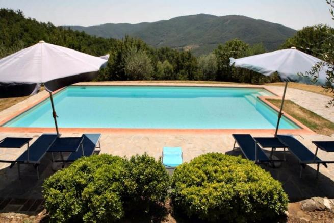Pool and hills