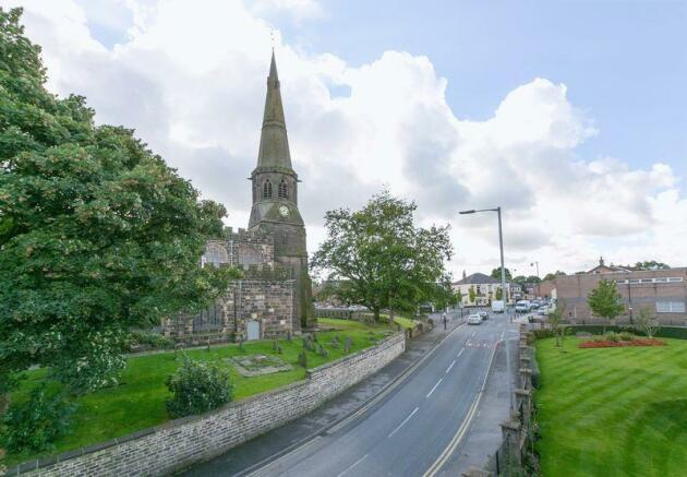 Opposite church