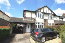 semi detached house in Basford Park Road...
