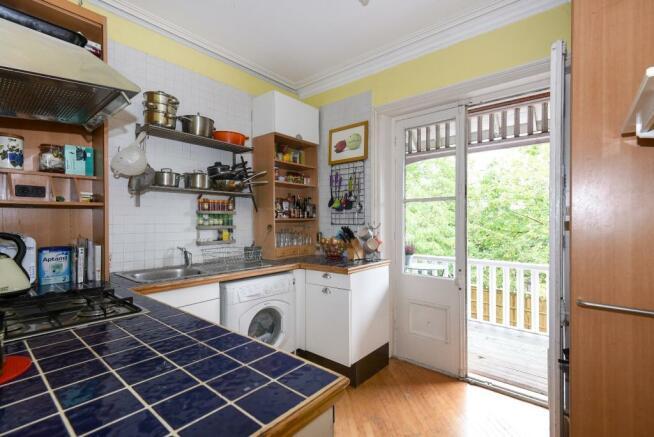 Kitchen with balc...