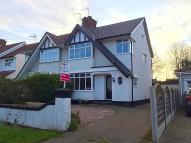 3 bed semi detached property in Manor Road, Eastham...