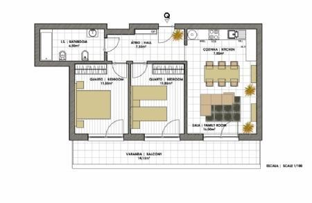 Image 2, 2 Bedroomed Apartment : AA221