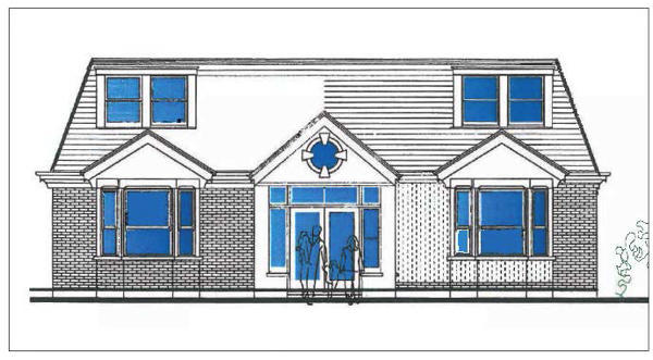 Proposed front elevation.
