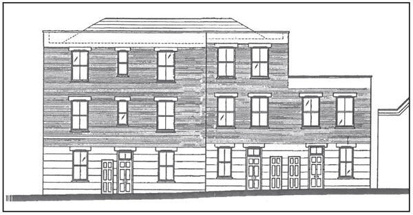 Proposed north elevation.