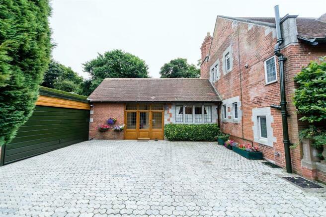 Courtyard and garage