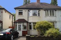3 bedroom semi detached property in Sarehole Road, Hall Green