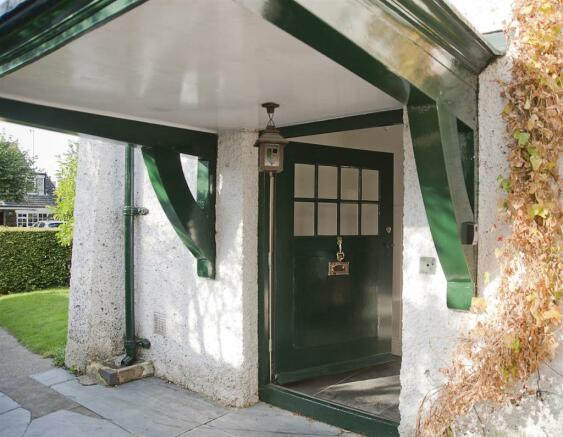 Original front door to