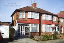semi detached house in Braemar Gardens, London...