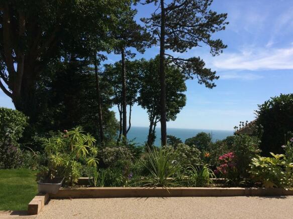 Garden and sea views