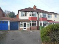 3 bed semi detached home to rent in Bourton Road, Olton...