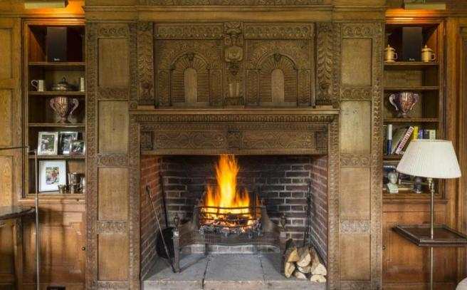 Reading Rm Fireplace