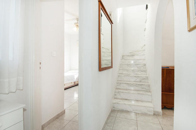 Marble inlaid stairs