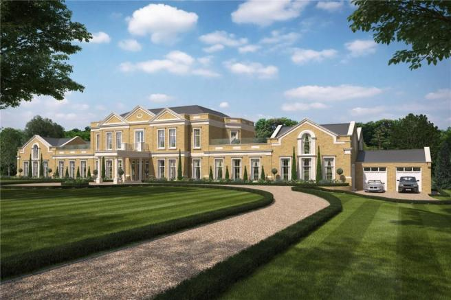 7 bedroom detached house for sale in spats lane headley for Modern luxury homes for sale uk