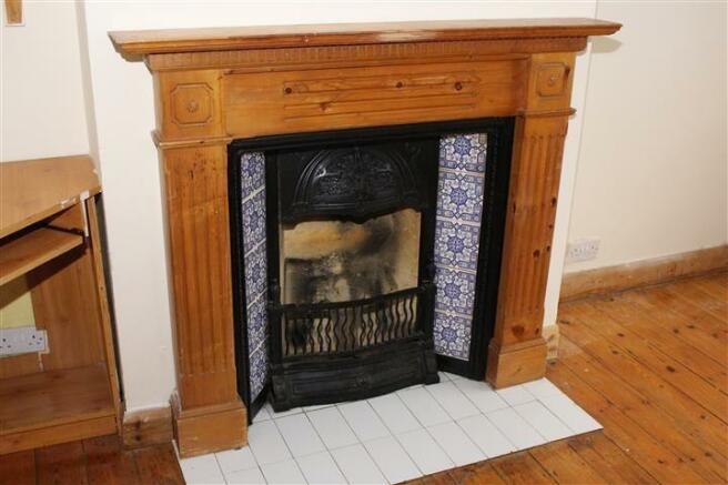 din area fireplace