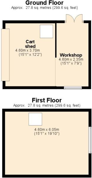 GROUND AND FIRST OUTBUILDING FLOOR PLANS