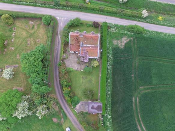 aerial view of rear