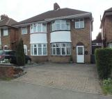 3 bedroom semi detached property to rent in Marcot Road, Solihull