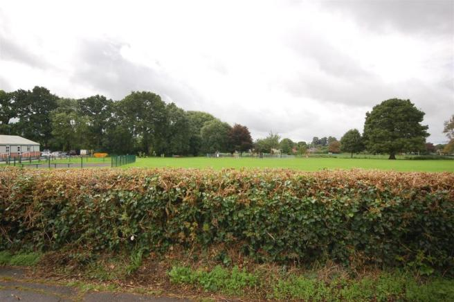 View to front over playing fields