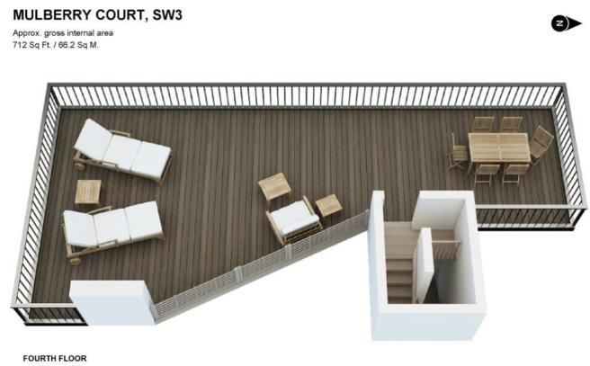 3D floorplan Terrace
