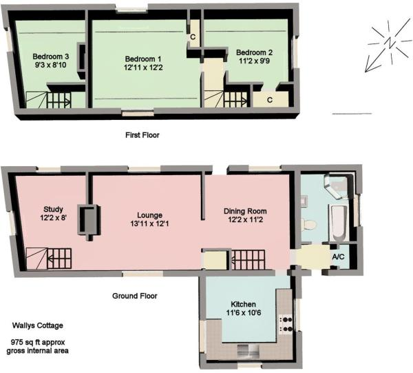 Wallys Cottage floor
