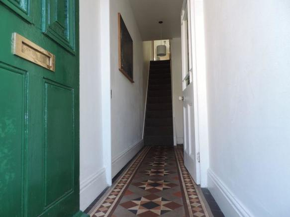 Hallway with t...